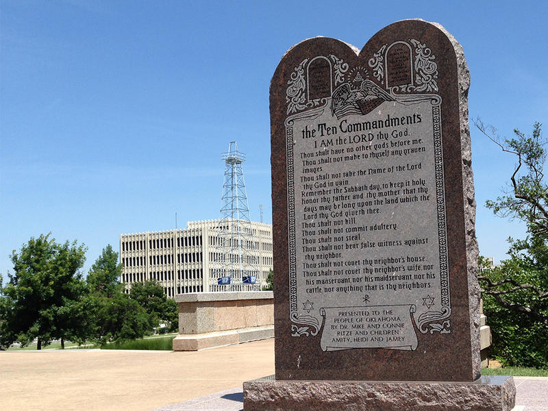 A Ten Commandments monument was removed from State Capitol grounds just over a year ago. State Question 790 seeks to have it returned.