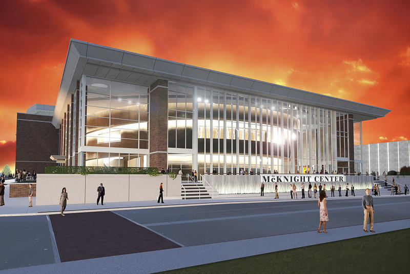 A rendering of The McKnight Center for the Performing Arts at Oklahoma State University.