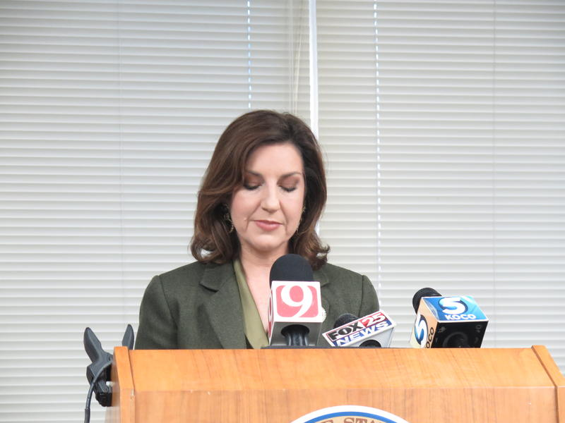 State Superintendent Joy Hofmeister said she would fight campaign violation charges at a press conference on Thursday.