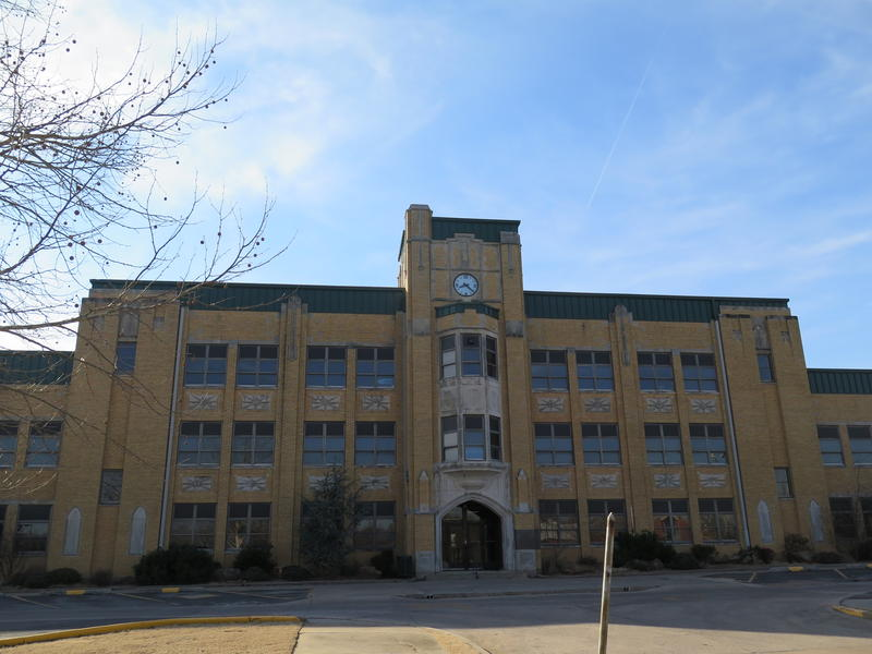Seminole Public School's old high school building. Parts of the building from the 1930s were recently deemed unsafe.