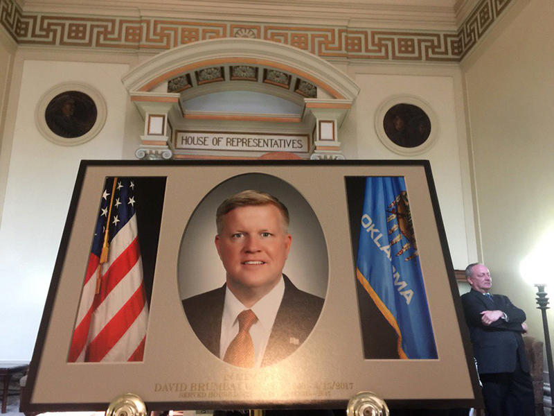 The Oklahoma House of Representatives honored the late Rep. David Brumbaugh on Monday morning.