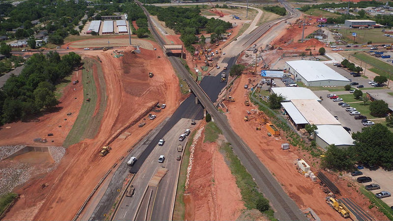 Construction continues on I-235 at I-44. Although the road was reopened Tuesday morning, work will continue until 2024.