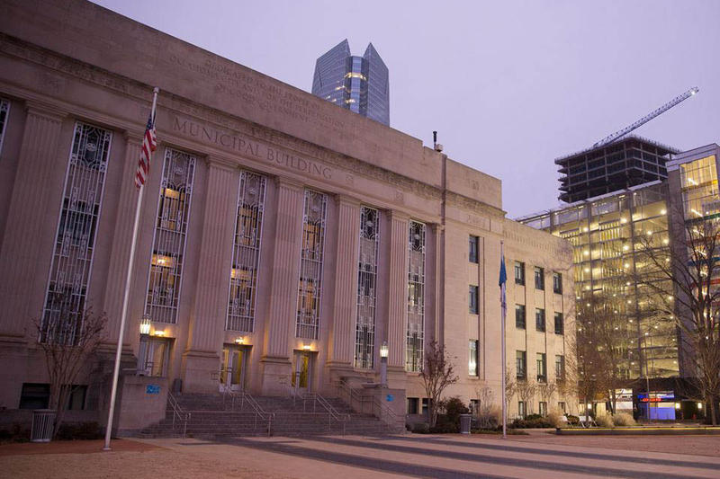 City Hall in Oklahoma City.