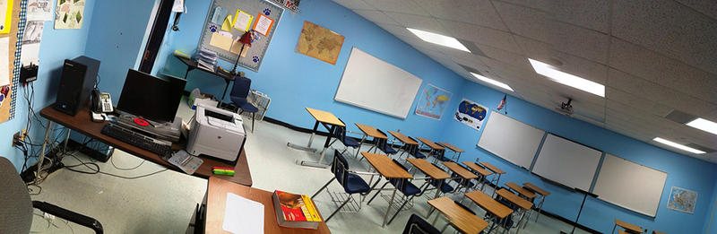 A classroom at Edmond North High School.