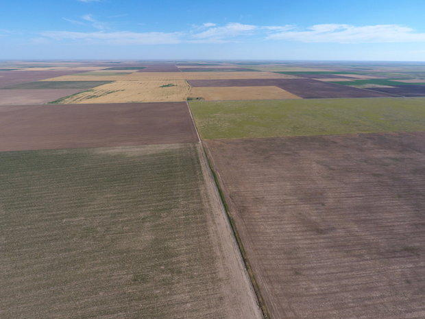 Aerial photo of the site where the Wind Catcher Energy Connection Facility will be built in the Oklahoma Panhandle.