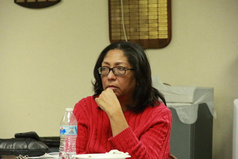Marilyn Vann, President of the Freedmen of the Five Civilized Tribes Association and lead plaintiff in the case, listens at a Freedmen meeting.
