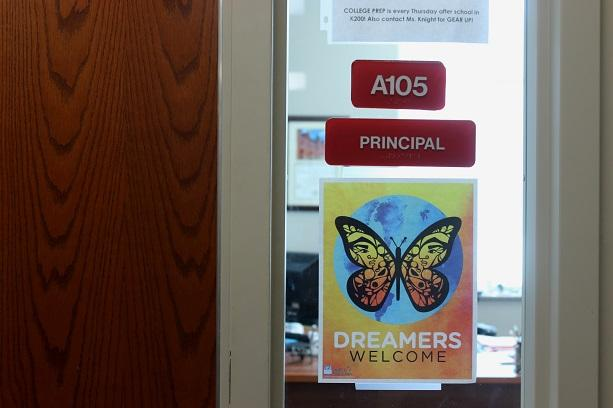 "The principal at U.S. Grant High School in Oklahoma City wants undocumented students to feel safe in school, so he put ""Dreamers Welcome"" signs throughout the building."