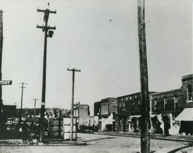 The curriculum on the Tulsa Race Riot includes discussions on articles, video clips and photos, including this one of the flourishing Greenwood District before the riot.