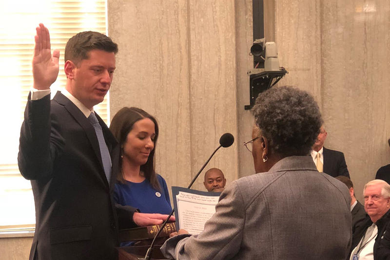 Former State Senator David Holt was sworn into the Oklahoma City Mayor position during his first City Council meeting on April 10, 2018.