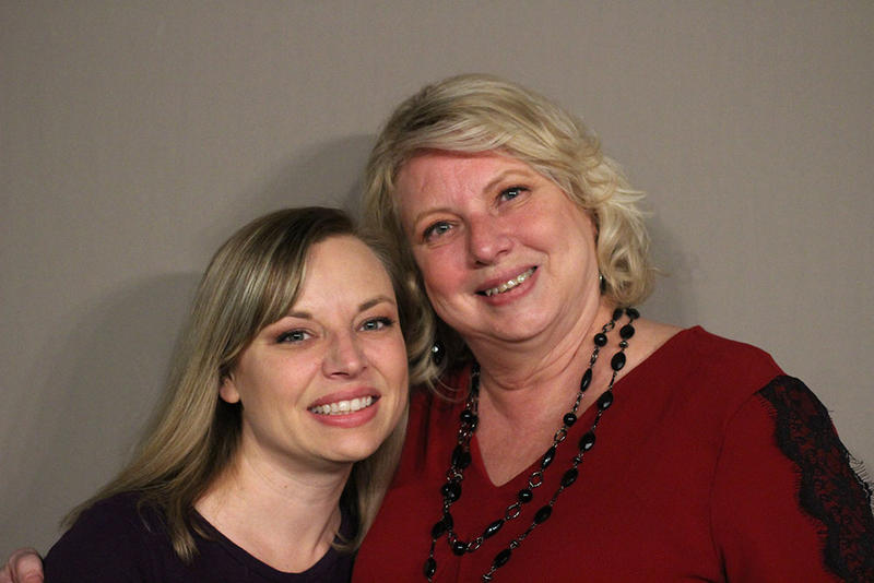 Nicole Moore and her mother Vicki Hudoba