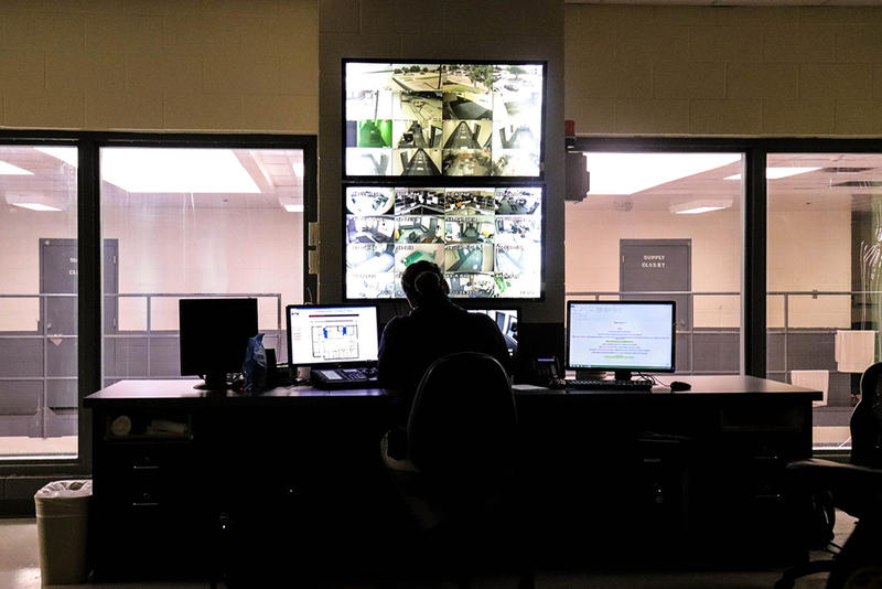 The control room of the Canadian County jail.
