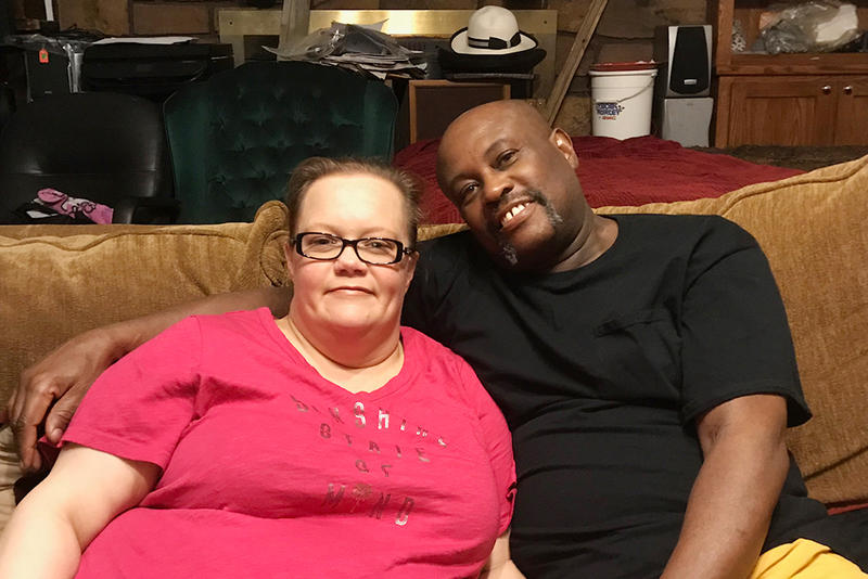 Shaunna and Michael Oliver at their home in Mannford, Okla. The couple is voting 'yes' on SQ 788 and say medical marijuana will help them with chronic pain from fibromyalgia, diabetes and other conditions.