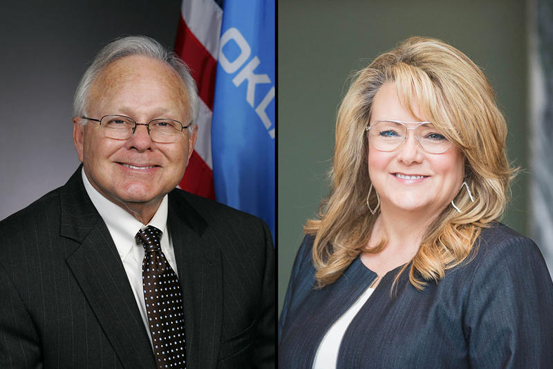 Rep. Bobby Cleveland, left, and Sherrie Conley, right
