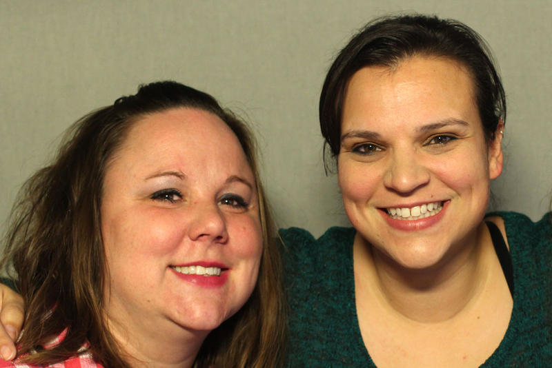 Sisters Heather Moomey (left) and Rochelle Sims (right)