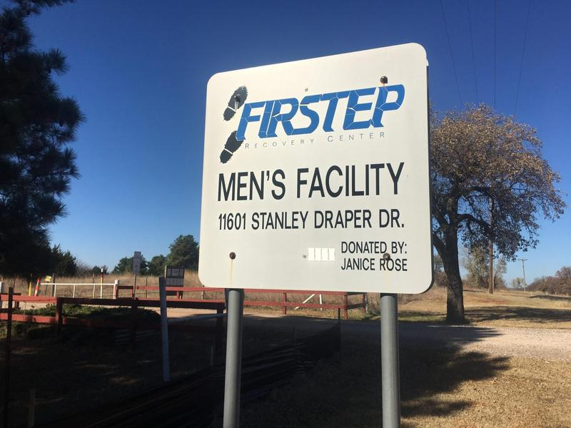 Firstep's men's and women's campuses sit on rural land owned by the City of Oklahoma City. Recovering addicts from the program work cutting grass and picking up litter for the city.