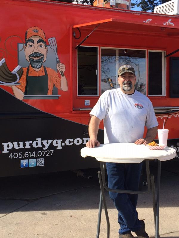 Dan Purdy, owner of the Purdy Q Mobile Smoke Pit