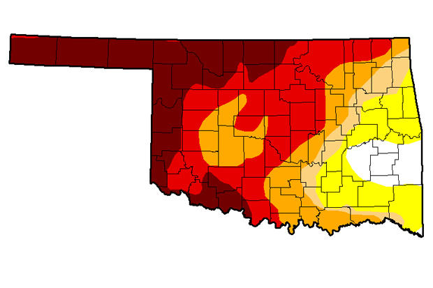 Drought in Southwest Oklahoma Dented But Not Dead After Days of Rain ...