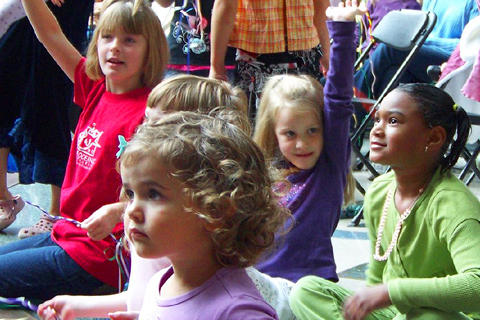 Children at a KPBX Kids' Concert