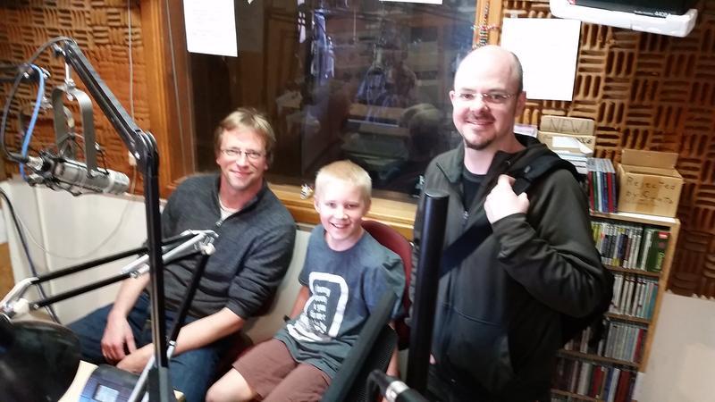 Eckart Preu, Amiel Elfert and Dan Cotter in the studio
