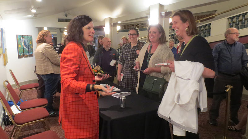 Paula Poundstone greets fans, signs autographs and takes photos after the show.