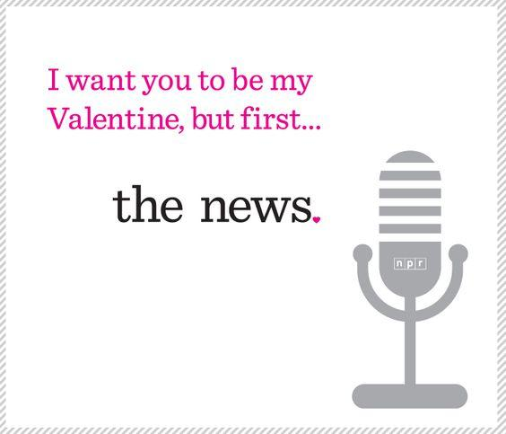 npr staffer melody kramer came up with a series of npr themed valentines you can copy for windows right click on any picture and save to your desktop and