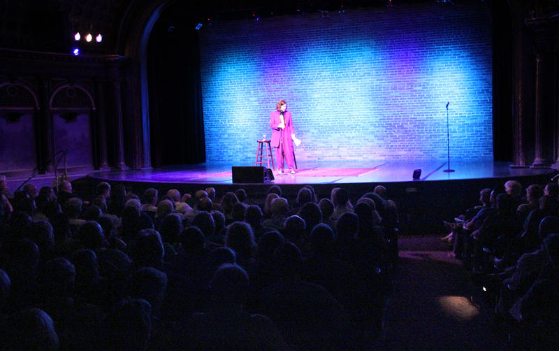 Paula addresses the audience at the Bing Crosby Theater in Spokane on June 22, 2017.