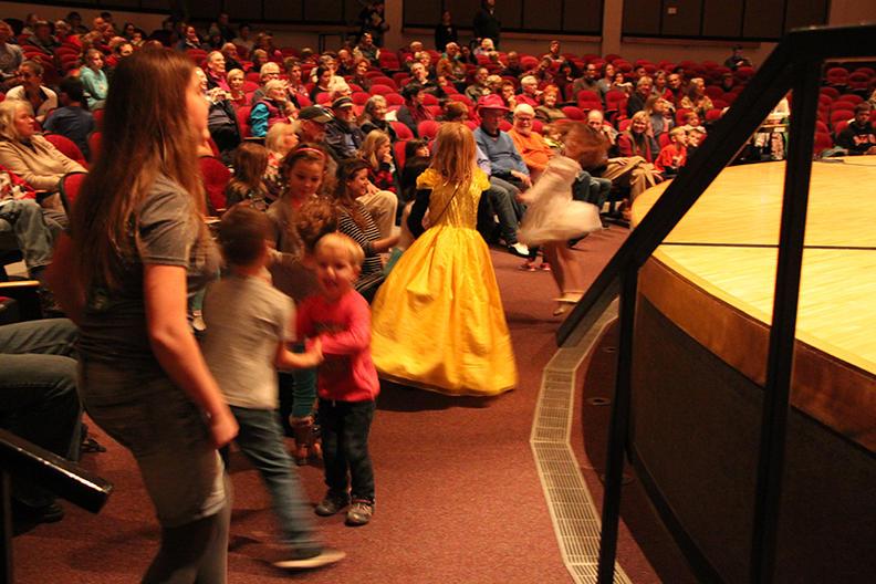 Kids dancing to the Hot Club of Spokane
