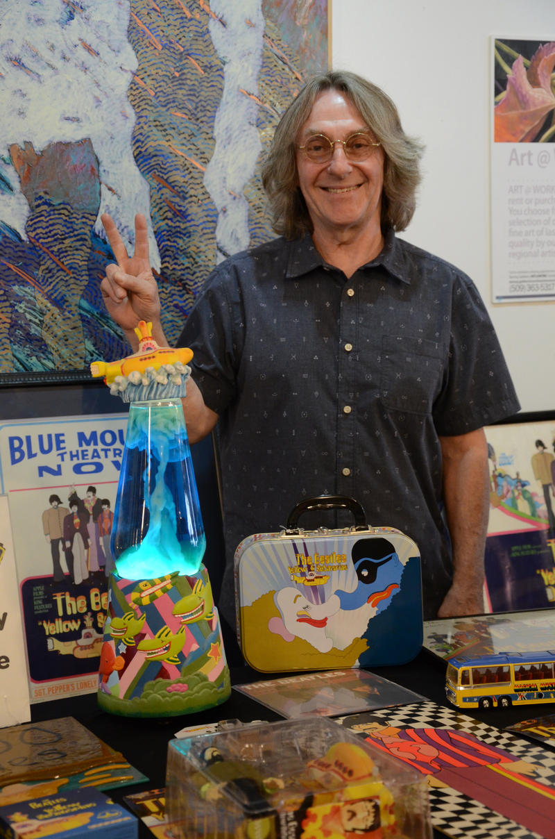 Bob Gallagher of 4,000 Holes brought a stunning array of Yellow Submarine memorabilia.