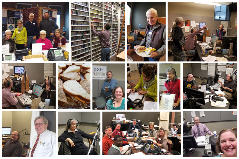 Tuesday morning was a bit of a stretch, but we made it! Verne found some excellent music to pledge to and Garland Sandwich Shoppe donated lunch. Yum!