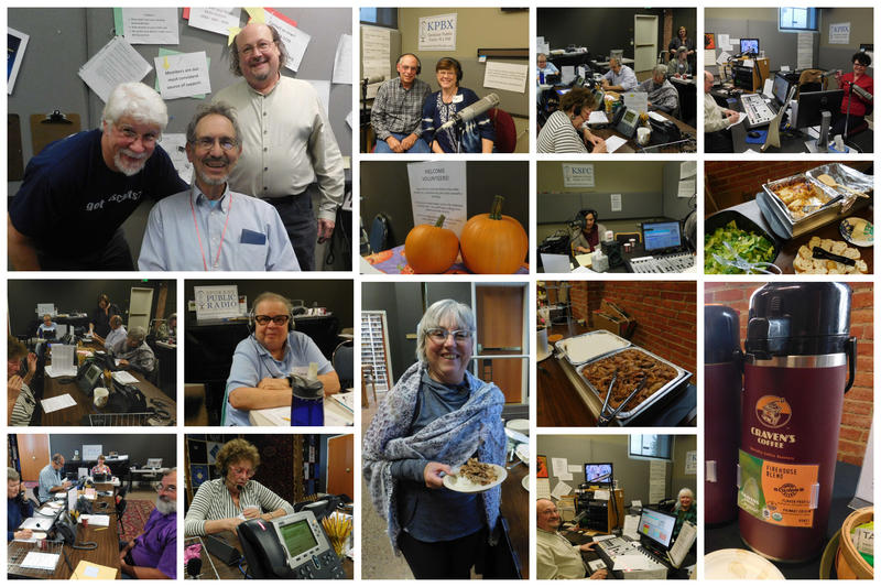 The Friday afternoon pledge drive team had lunch from Fery's Catering and dinner from Aloha Island Grill to keep them going. And of course, Cravens Coffee Company all day long. Thank you volunteers and donors!