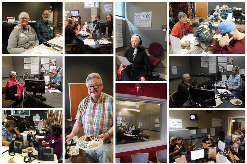Pledge Drive Sunday! We had live in-studio performances during the Folk Block, lunch from Aloha Island Grill and so many wonderful volunteers!