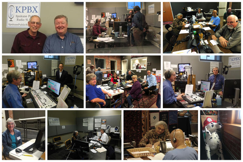 Monday morning and our pledge drive volunteers are hard at work! So many smiling faces, so much fun on the air and off!