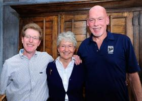 Rotarian Bob Richer, left, poses with Professional Citizen of the Year: Sister Mary Anne Pajakoski and Volunteer Citizen of the Year: Park City School Board Chair Mo Hickey.