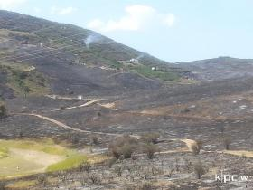 Hot spots still smoulder Friday in the Rockport Estates and Rockport Ranches area.