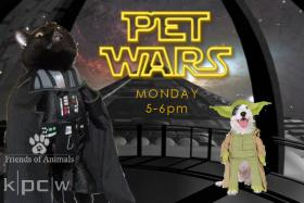 Friends of Animals Utah joins us Monday from 5-6PM for PET WARS. Animal-themed premiums this hour.