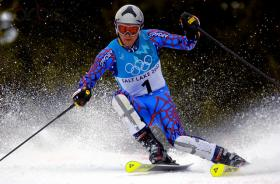 Bode Miller at the 2002 Salt Lake City Winter Olympic Games.