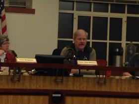 Mayor Dana Williams conducting his last meeting.