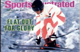 Bill Johnson on the cover of Sports Illustrated after his win in 1984.