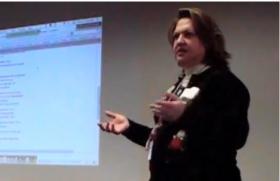 Lori Gardner during a presentation on professional growth.