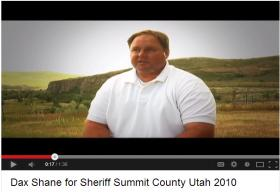 Screen capture from Shane's 2010 election video on YouTube.