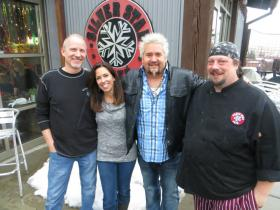 Jeff and Lisa Ward, Guy Fiere, Chef Dave Bible