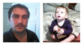 Scott Aimar, left, is being sought, after not returning his daughter Coraline to the mother's home after his parenting time.