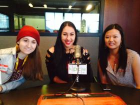 PCHS HOSA members Taylor Watkins, Macarena Subiabre and Nicole Chang