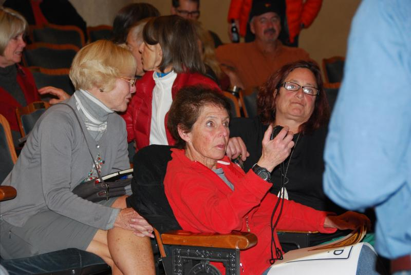 Sally Elliot (left), Francie Eisenberg (in red) and Beth Fratkin