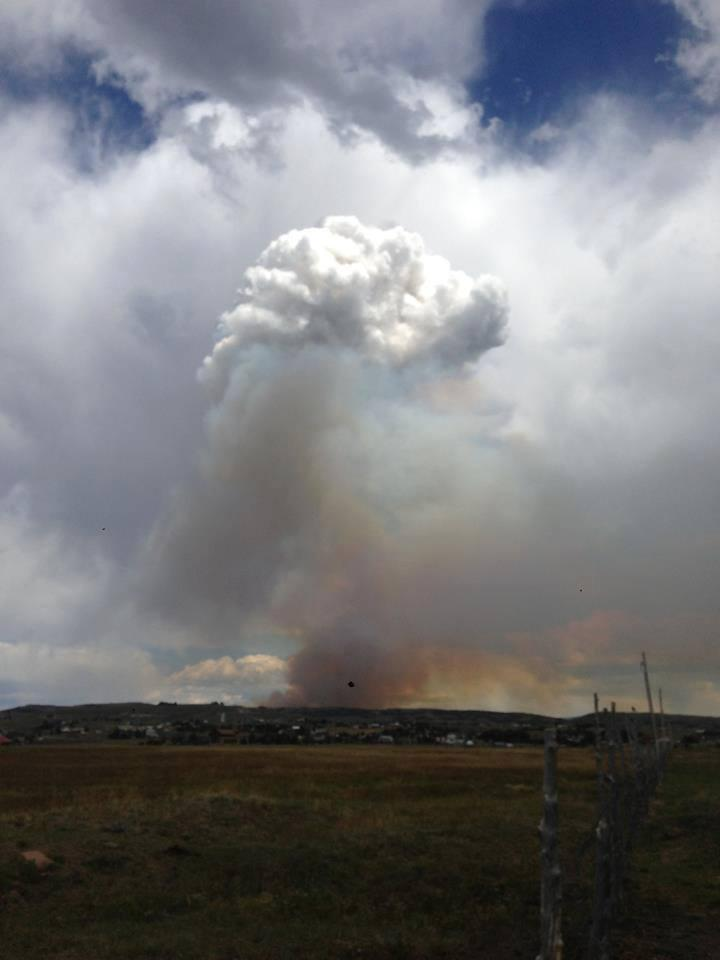 View of fire from silver creek
