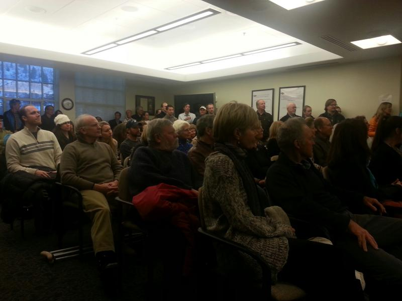 A large crowd of supporters, friends and city staff attended the ceremony.
