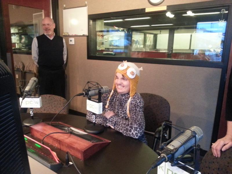 Cindy Gottshall dropped in for her annual birthday show.