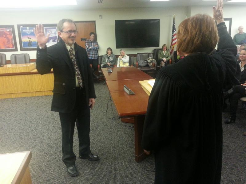 Jack Thomas swears in as the new mayor of Park City.