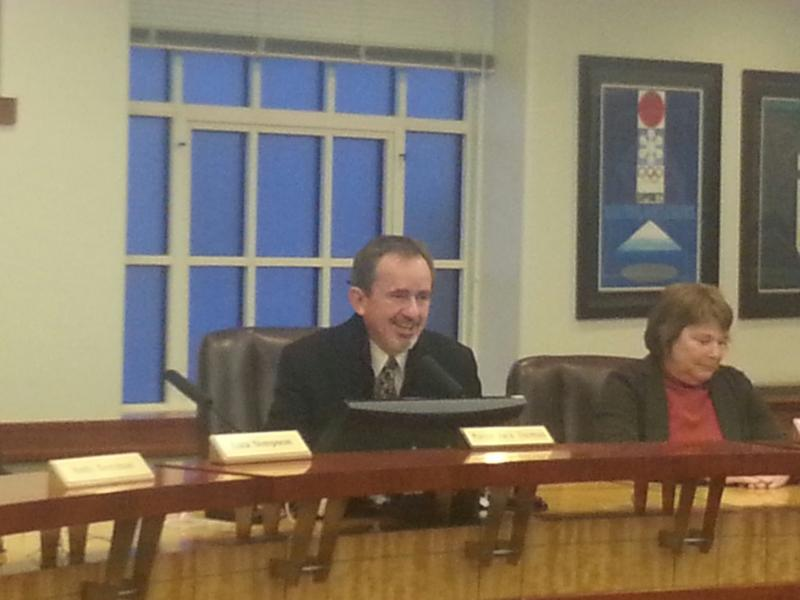 Newly sworn-in Mayor Jack Thomas acknowledged the work of his predecessor Dana Williams, as he takes his seat for the first time.