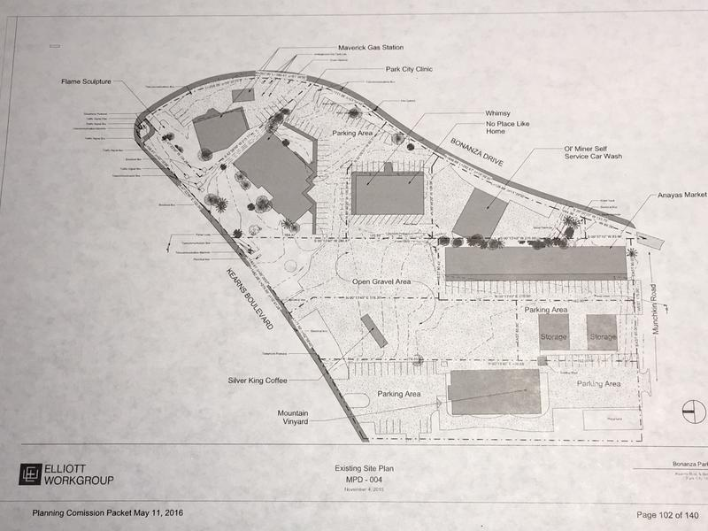 The existing site plan for Bonanza East